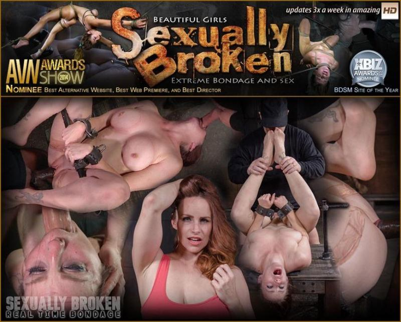SexuallyBroken.com/RealTimeBondage.com: Busty Bella Rossi BaRS show grand finale with strict metal bondage and epic 3 cock dickdown! [SD] (143 MB)
