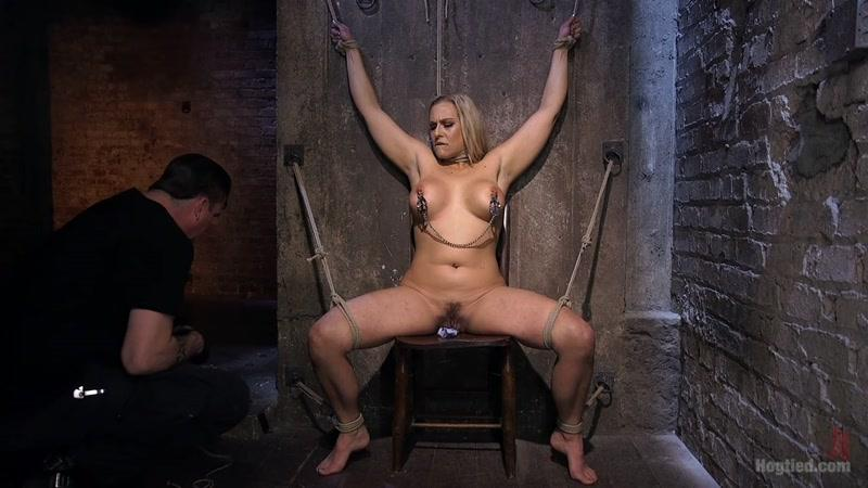 Hog Tied - Angel Allwood (Big Tit Blonde MILF Bound, Tormented, and Made to Cum!! / 07-04-2016) [HD]