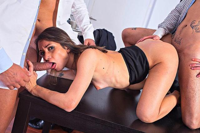 WTF - Valentina Bianco - Wild DP Sex in the Office [SD, 432p]