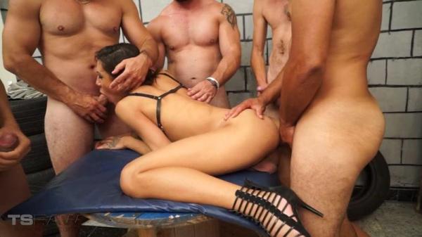 Gabi Ferrari - Gabi's Creampie Gangbang (HD, 720p) [Shemale, Hardcore, Gangbang, Group Sex, Anal]