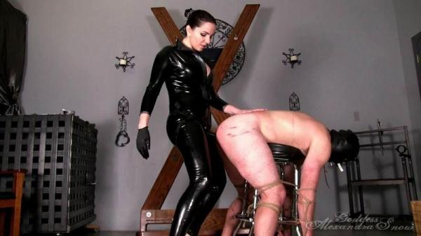 Snow - Strap-On Fuck Toy - GoddessSnow.com (HD, 720p) [Femdom, Bondage, Strapon, Latex]