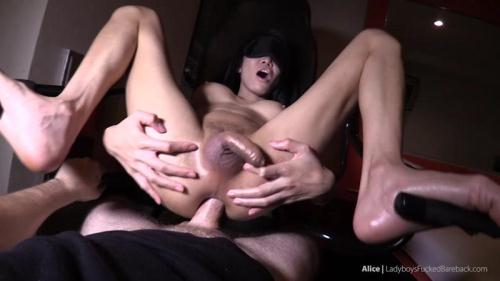 Alice - Blindfolded Impaled and Creampied [HD, 720p] - Shemale