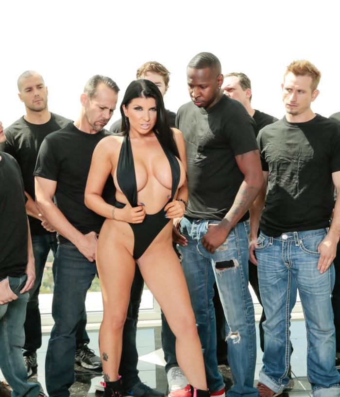 Hard - Romi Rain - 10 Guy Massive Facial  [FullHD 1080p]