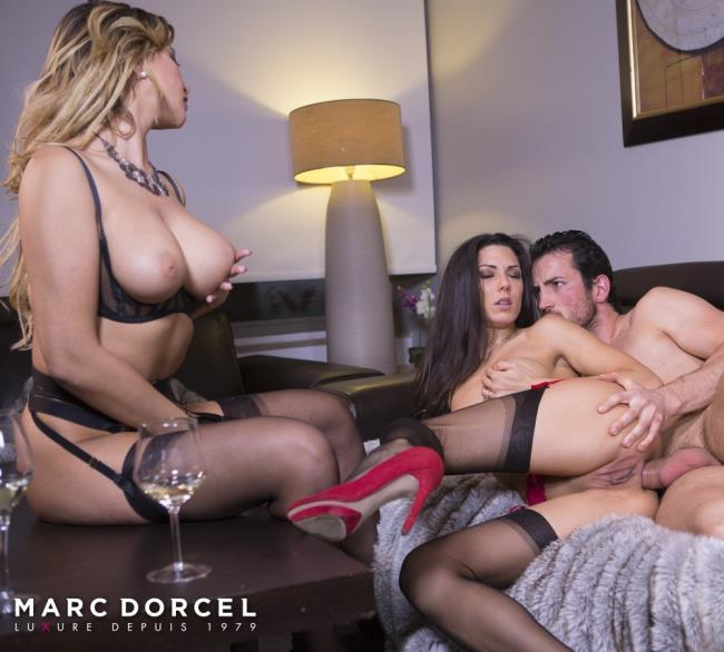 DorcelClub: Anna Polina, Alexa Tomas, Claire Castel - Hard And intense sex party with Alexa Tomas And Anna Polina  [SD 540p]  (Threesome)