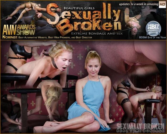 SexuallyBroken.com - Odette Delacroix - Part 2 of Odette Delacroix epic live show. Double fucked to the ground! Rough sex and bondage! (BDSM) [SD, 540p]