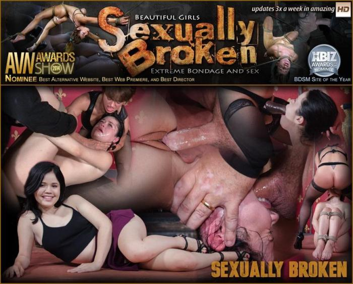 SexuallyBroken.com - Sexy hot Asian Yhivi, rope bound, double fucked and deep throated. Lesbian rough sex and orgasms! (BDSM) [SD, 540p]