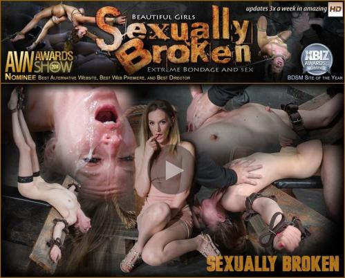 SexuallyBroken.com [Lean all natural Mona Wales bound in inverted tie and dicked down without mercy by 3 cocks!] SD, 540p