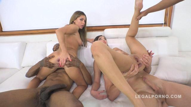 LegalPorno - Ally Breelsen & April Storm anal & DP mini orgy with 3 guys RS218 [SD, 480p]