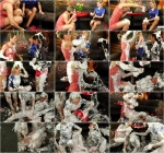 Anabel, Godessa Del Gabo and Virus Vellons - Shaving Cream Shenanigans (Lesbians) [SD, 540p]