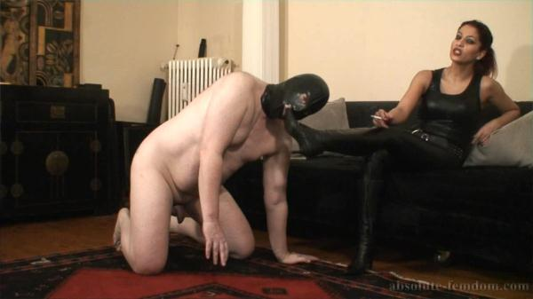 Harassing A Wimp - Absolute-Femdom.com/clips4sale.com (HD, 720p) [Mistress, Female Domination, Boot domination, Handjob, Femdom, Foot Fetish]