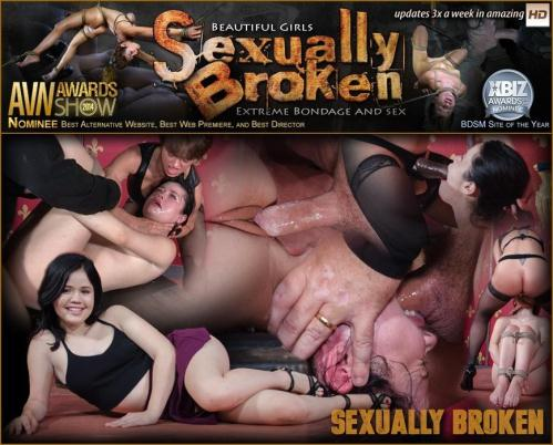 SexuallyBroken.com [Yhivi - Sexy hot Asian Yhivi, rope bound, double fucked and deep throated. Lesbian rough sex and orgasms!] HD, 720p