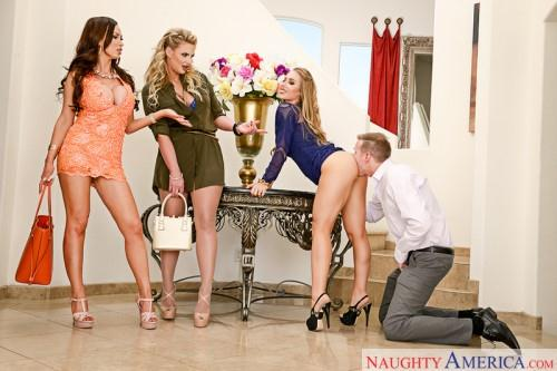 Nicole Aniston, Nikki Benz, Phoenix Marie (Group Sex / 30.05.16) [NaughtyAmerica / SD]