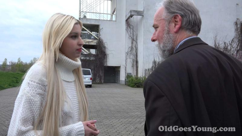 Old Goes Young - Ellen Jess aka Furia - Sexy blonde teen gets picked up and fucked by dirty old man [2016 SD]