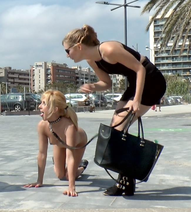 PublicDisgrace, Kink: Mona Wales, Chiki Dulce - Beach Babe Covered in Filth and Used Like a Public Trashcan  [SD 540p]  (BDSM)