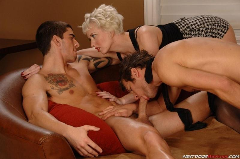 Next Door Hookups - Tyler Torro, Cherry Torn and Spencer Fox - Bisexual Threesome Sex with Anal! [FullHD]