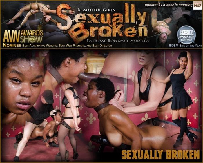 SexuallyBroken.com - Kahlista Stonem Bound and Fucked to Cumming From Both Ends By Couple! (BDSM) [HD, 720p]