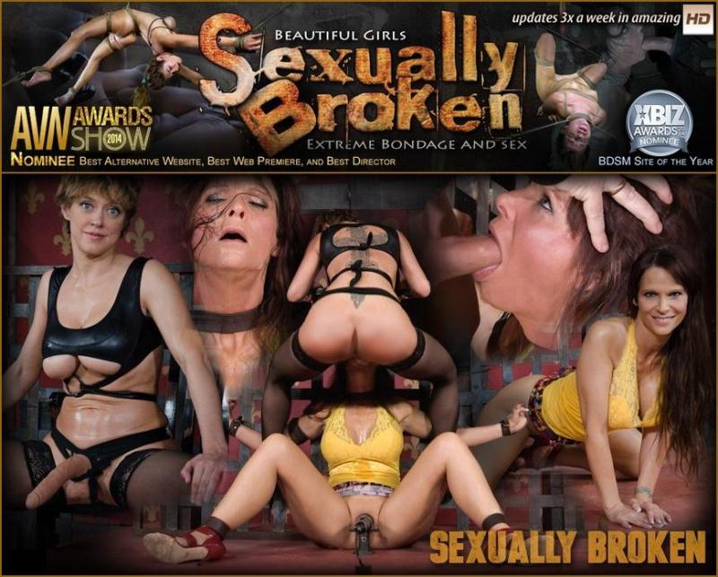 SexuallyBroken.com: Hot Cougar is bound, face fucked and made to cum over and over. Brutal deep throat, massive orgasms! [SD] (206 MB)