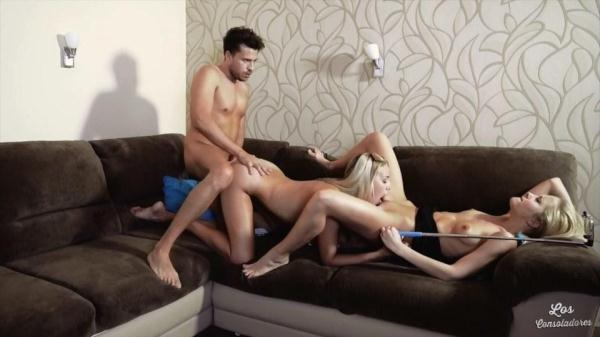 Hungarian blonde babes Christen Courtney and Sicilia in Spanish threesome (SD, 540p)