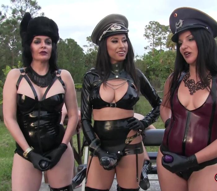 ClubDom: Michelle Lacy, Goddess Tangent, Natasha - Strap-on Contest for the She-Gods  [FullHD 1080p]  (Femdom)