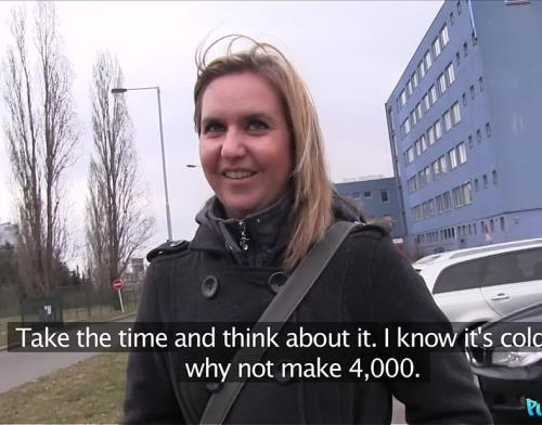 Blonde Sucks and Fucks in Car - Lina (SiteRip/PublicAgent/HD720p)