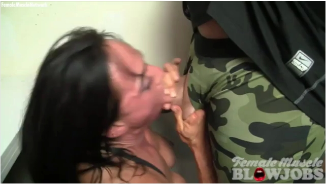 FemaleMuscleBlowjobs: Bella Monet - Hes Giving Her A Faceful Of Cum  And She Likes It  [SD 360] (68.0 MB)