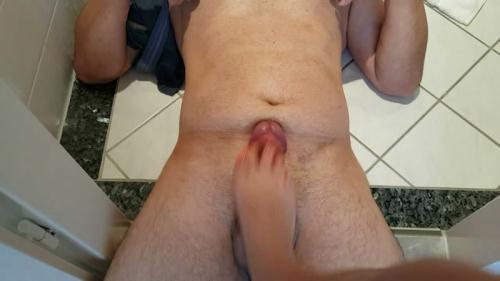 Scat [Special cock trample with shit eating - FootJob] FullHD, 1080p