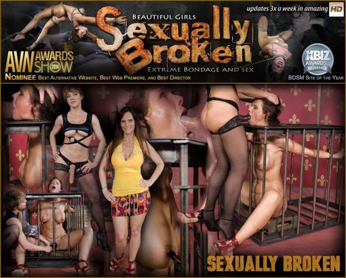 SexuallyBroken.com - Hot Cougar brutal fucked by MILF and Daddy! Throat fucked and made to cum over and over! (BDSM) [SD, 540p]