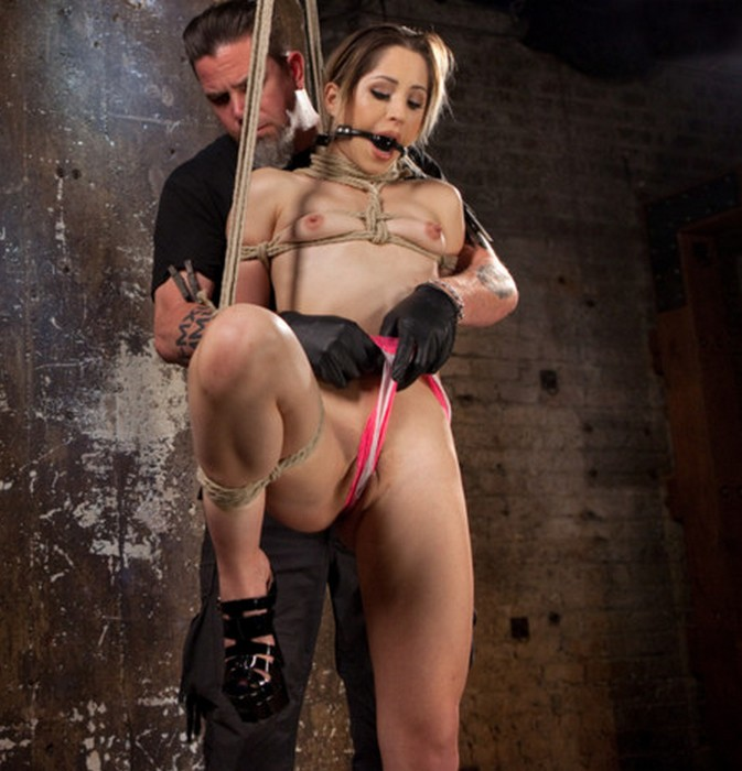 Hogtied, Kink - Goldie Rush, The Pope [Cute LA Porn Slut in Brutal Bondage and Abused then Made to Cum] (SD 540p)