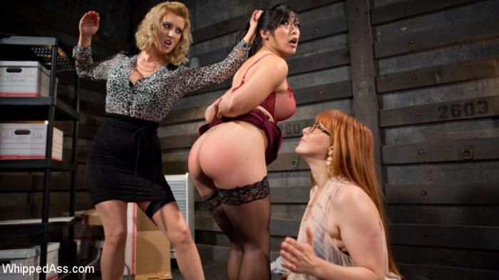 WhippedAss, Kink: Penny Pax, Cherry Torn, Mia Li - Secretary: Hot babe spanked, double penetrated, and dominated!  [SD 540p]  (Femdom)