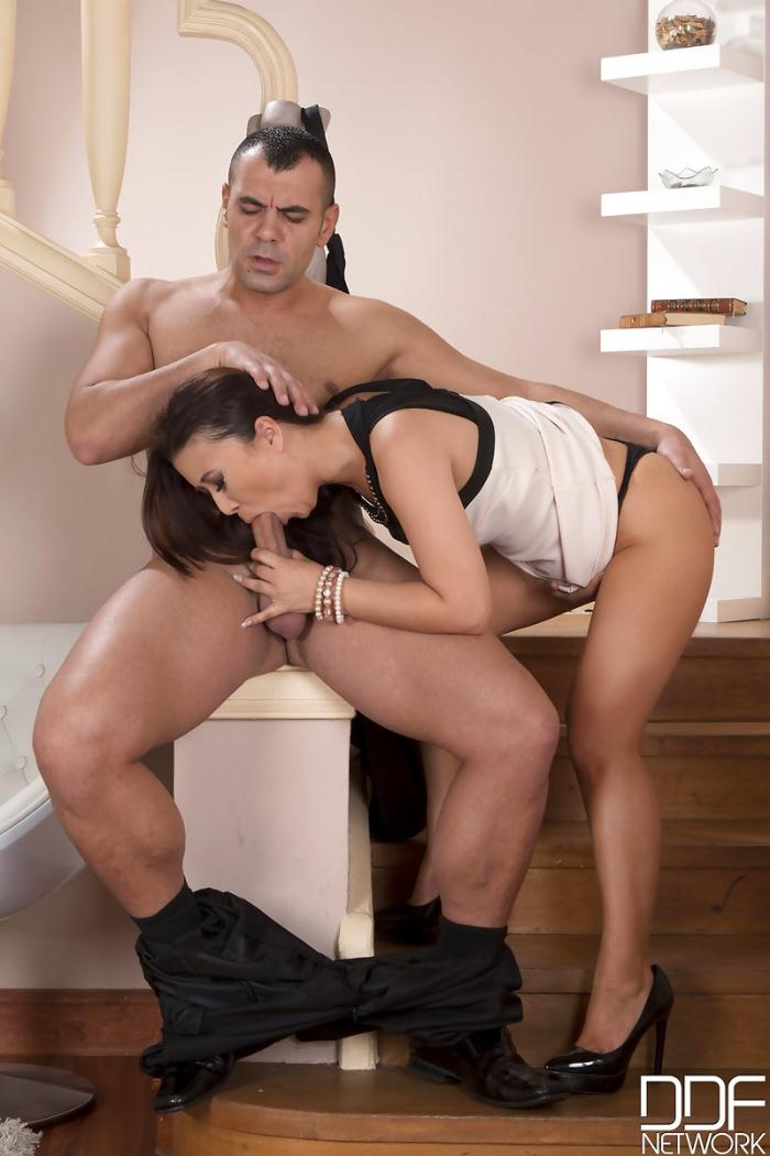 Only Job - Kinky Housewife - Asian New Face Sucks Husbands Cock  [HD 720p]