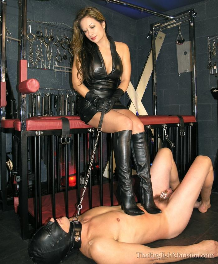 TheEnglishMansion: Miss Jasmine - Chastity Boot Worship  [HD 720p]  (Femdom)