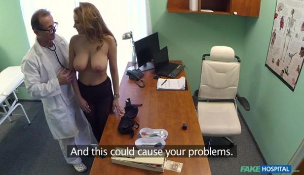 Big Tits Babe Has a Back Problem (SD, 368p) [Big Tits, Amateur, Blonde, Teen, Russian]
