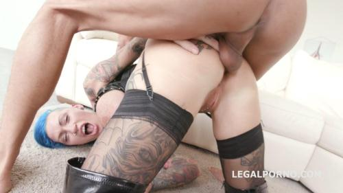 LegalPorno.com [Facialized 5on1. Calisi Ink get 12 facial after her first airplane DAP, BallDeepAnal&DP GIO186] SD, 480p