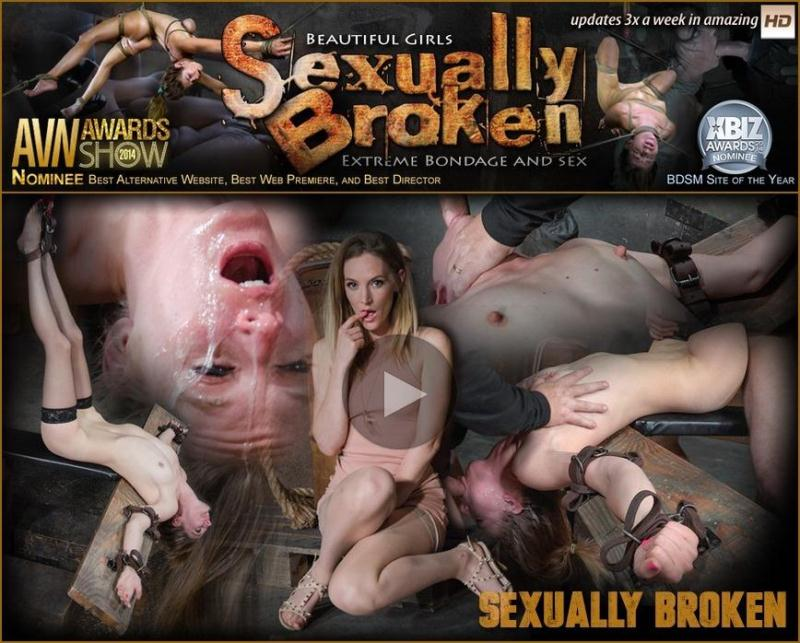 Sexually Broken - Lean all natural Mona Wales bound in inverted tie and dicked down without mercy by 3 cocks! (May 4, 2016 / Mona Wales, Matt Williams, Maestro, Jack Hammer) [SD]