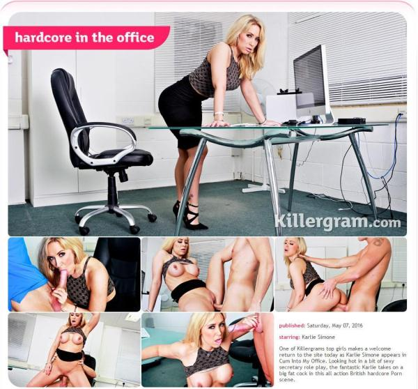 Karlie Simone - Hardcore In The Office [SD] [245 MB]