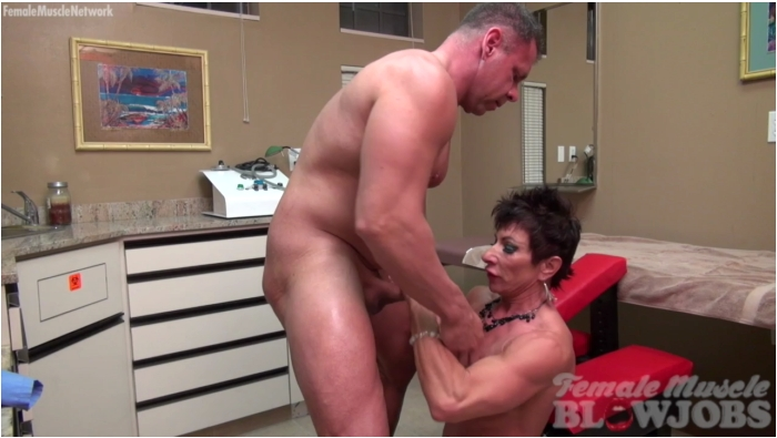 FemaleMuscleBlowjobs: Anna Phoenixxx - The Pump Test  [HD 720]