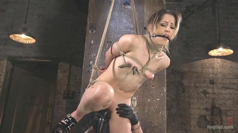 Hog Tied - Cute LA Porn Slut in Brutal Bondage and Abused then Made to Cum [HD]