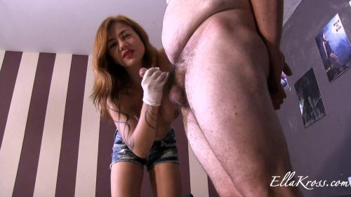[Teasing Fat Slave, Ruining his Orgasm, and Making Him Eat His Cum!] FullHD, 1080p