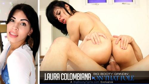 Laura Colombiana - Big Booty Grindin' on that Pole [HD, 720p] - Shemale