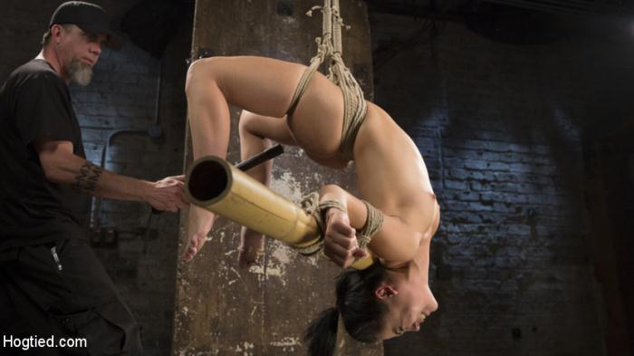 Kristina Rose- Feisty Latina is Captured in Grueling Bondage, Tormented, and Ass Fucked  [SD 540p] HogTied.com/Kink.com
