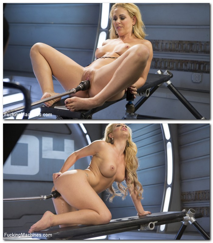 FuckingMachines, Kink: Cherie Deville - Hard Bodied Blonde MILF has Earth Shattering Orgasm from the Machines  [SD 540p]  (BDSM)