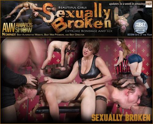 SexuallyBroken.com [Zoey Laine Bound to Bench and Fucked Until Mindless and Drooling!] HD, 720p