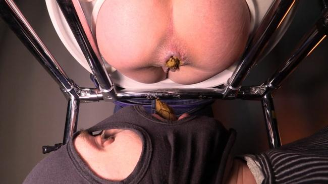 Mistress Jenny takes a dump in her slave's mouth - Femdom (Scat Porn) FullHD 1080p