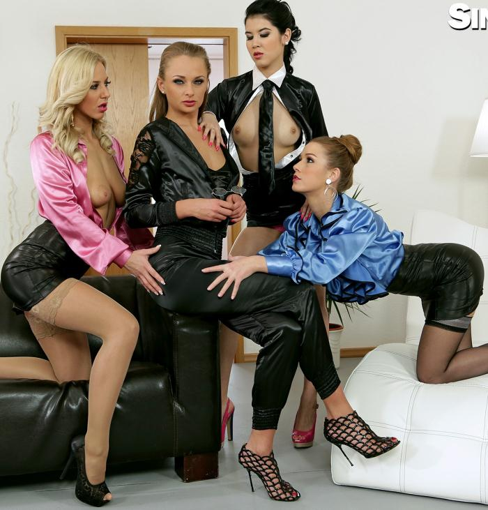 SinDrive - Ivana Sugar,  Nathaly Cherie,  Alexis Crystal  [All Asses, All Access: Cunt Hunter Ivana Sugar Dominates Pussies and Assholes For Satisfaction and Pervy Pleasure] (HD 720p)