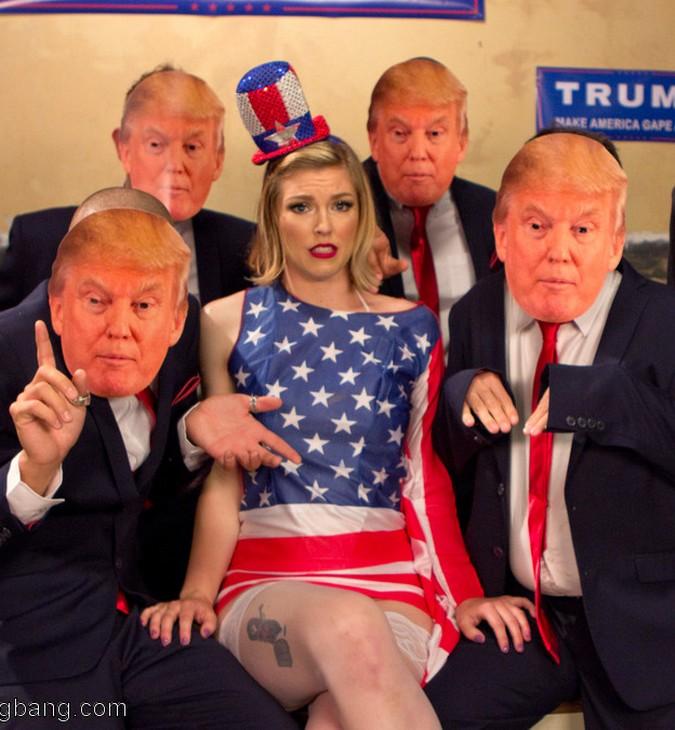 HardcoreGangBang, Kink - Ella Nova - Make America Gape Again!! [SD 540p]