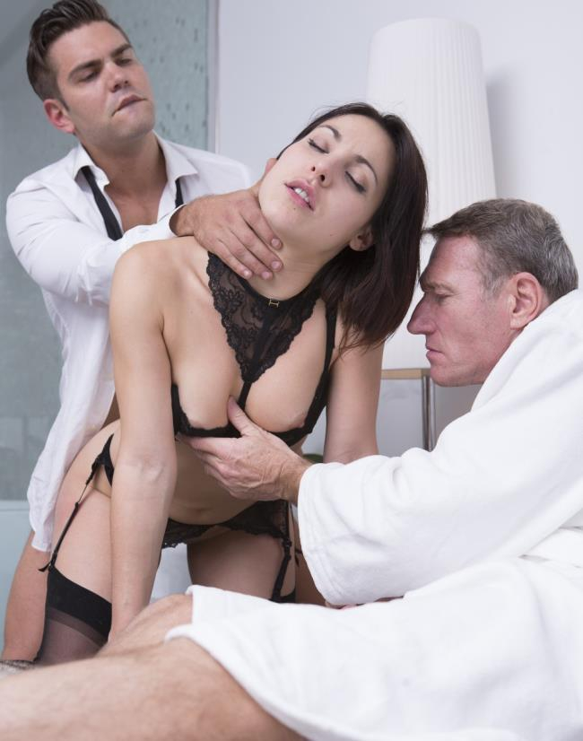 DorcelClub:  Ines Lenvin - Luxure - Ines Lenvin, Sodomized In Front Of Her Husband  [HD 720p]  (Double Penetration)
