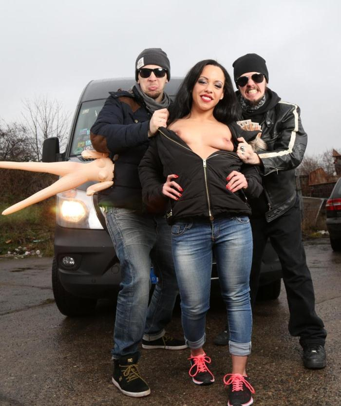 PornDoePremium: Danny Bubbles - German brunette Danny Bubbles gets fucked on the backseat of bums-bus  [SD 480p]  (Public)