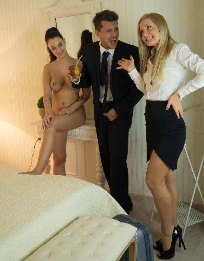 PornDoePremium: Sicilia, Angelina Brill - Sicilia and Angelina Brill in Spanish threesome with Andy Stone  [SD 480p]  (Threesome)