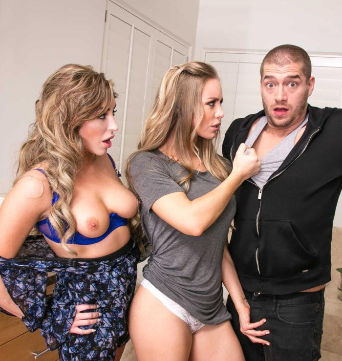 Naughtyamerica: Christiana Cinn, Nicole Aniston - Big Fake Tits  [HD 720p]  (Threesome BGG)