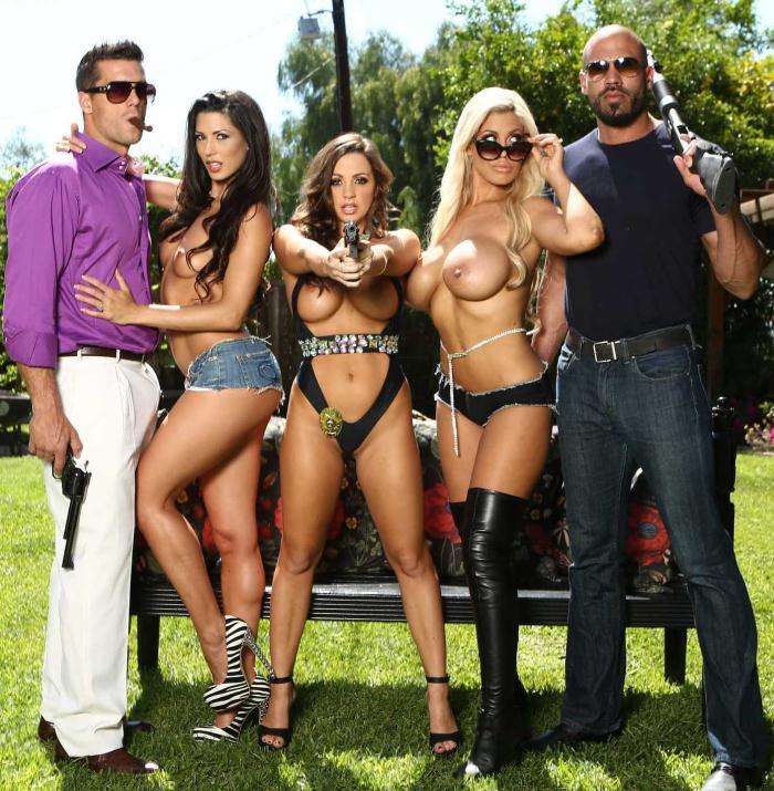 Brazzers: Abigail Mac,Alexa Tomas, Bridgette B - Pussy O Plomo: Part 4  [HD 720p]  (Big Tits)